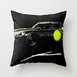 Jaguar sl yellow Throw Pillow