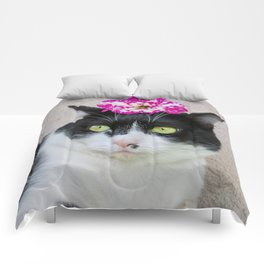 Khoshek sweet kittycat Comforters