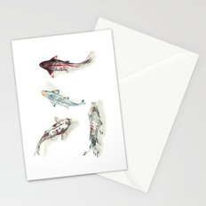 Koi Fish Watercolour Stationery Cards