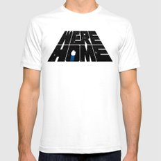 We're Home SMALL Mens Fitted Tee White