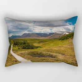 The Tablelands, Gros Morne National Park Rectangular Pillow