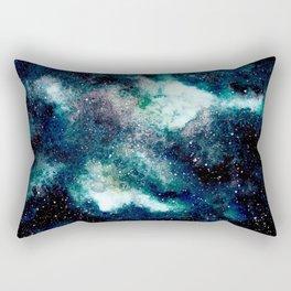 Dreamy Cloud Galaxy, Blue Rectangular Pillow