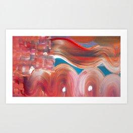 Hills and Humps Art Print