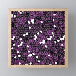 Purple Polycamo Framed Mini Art Print