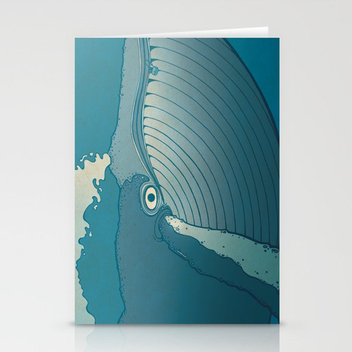 A whale ate her by mistake and spat her up in the sky Stationery Cards