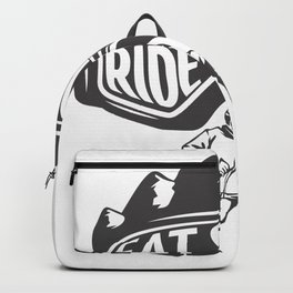 Eat Sleep Ride Repeat Skiing Backpack
