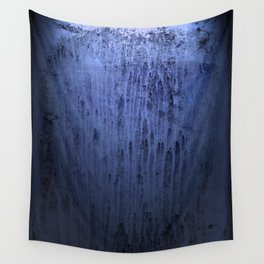 Old blue window at night Wall Tapestry