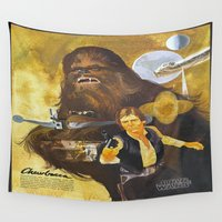 chewbacca Wall Tapestries featuring Star Chewbacca Wars by Hitting 50