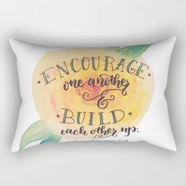 Encourage One Another Rectangular Pillow