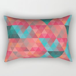 Abstract Geometric Pattern colorful triangles abstract art Rectangular Pillow