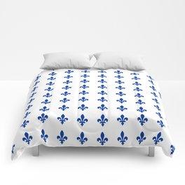 Blue Fleur De Lis Print Comforters