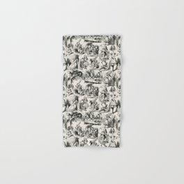 Alice in Wonderland | Toile de Jouy | Black and Beige Hand & Bath Towel