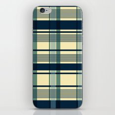 Blue Plaid Pattern iPhone & iPod Skin