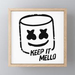 Marshmello - Keep It Mello Framed Mini Art Print