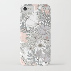 Seamless pattern design with hand drawn flowers and floral elements Slim Case iPhone 7