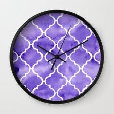 curvy purple pattern Wall Clock