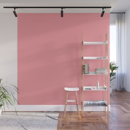 Tropical Coral Pink Wall Mural