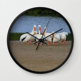Do These Feathers Make Me Look Fat Wall Clock