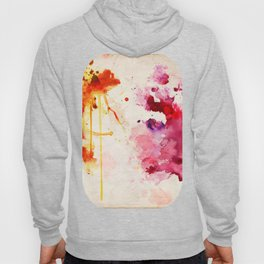 Fuchsia & Orange Color Splash Hoody