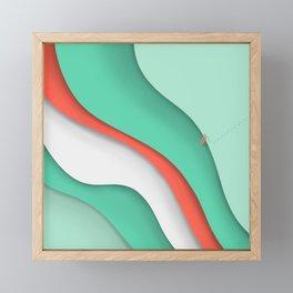 Living in layers Framed Mini Art Print
