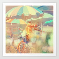 Seaside Town Art Print