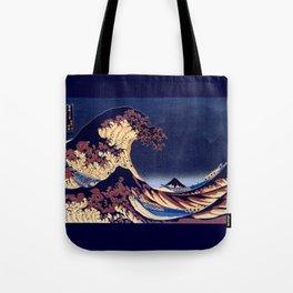 The Great Wave Off Kanagawa Inverted Katsushika Hokusai Tote Bag