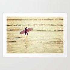 Golden Surf Art Print