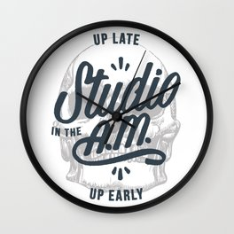 Up Late, Up Early Wall Clock