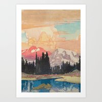 Art Prints featuring Storms over Keiisino by Kijiermono