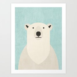 FAUNA / Polar Bear Art Print