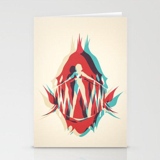 Piranha Girl Stationery Cards