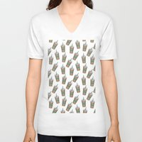 starbucks V-neck T-shirts featuring Starbucks by eARTh