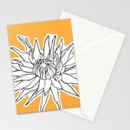 Yellow big flower Stationery Cards