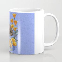 California State Bird Quail and Golden Poppy Coffee Mug