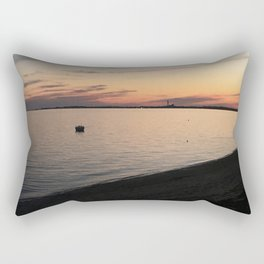 Cape Cod Bay Sunset Rectangular Pillow