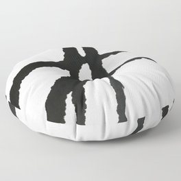 0523: a simple, bold, abstract piece in black and white by Alyssa Hamilton Art Floor Pillow