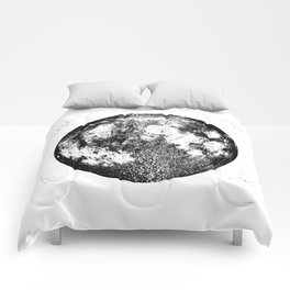 Negative Full Moon Print, by Christy Nyboer Comforters