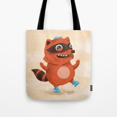 Rollerblade Raccoon Tote Bag