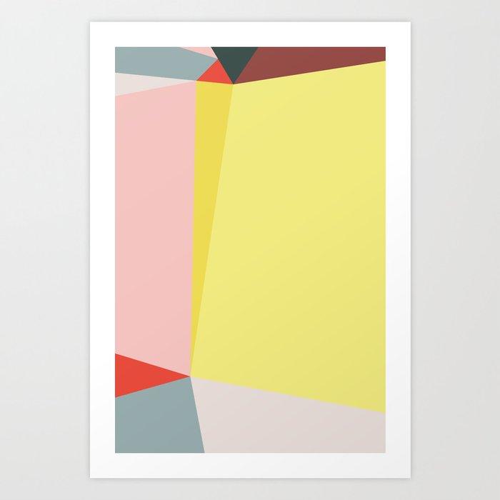 Polygonal Composition n° 3 Art Print