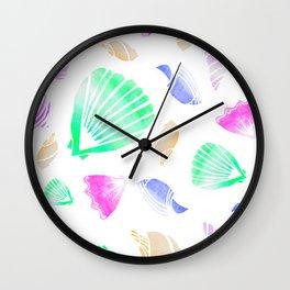 ALL the sea shells Wall Clock