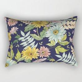Blooming Zinnias Rectangular Pillow