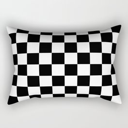 Checkered (Black & White Pattern) Rectangular Pillow