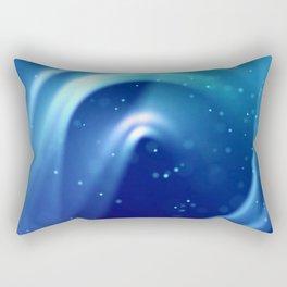 Center of Blue Galaxy Rectangular Pillow