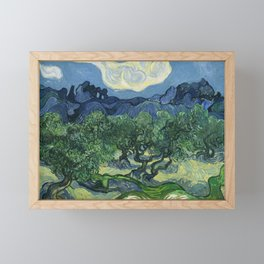 Olive Trees by Vincent van Gogh Framed Mini Art Print