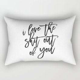 Love Sign,Love Quote,I Love You,I Love You More,Gift For Her,Gift For Him,Wall Art,Printable Art Rectangular Pillow