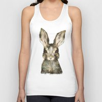 amy Tank Tops featuring Little Rabbit by Amy Hamilton