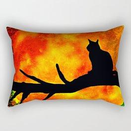 BLACK CAT HARVEST MOON 2018 Rectangular Pillow