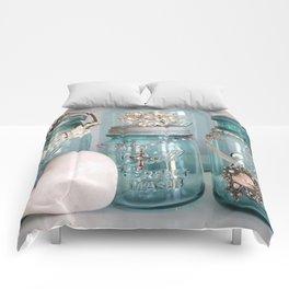 Vintage Mason Jars Shabby Chic Cottage Jeweled Decor Comforters