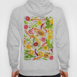 Fruits and vegetables pattern (31) Hoody