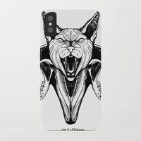 sphynx iPhone & iPod Cases featuring Sphynx by kitsunebis